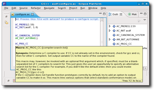 Linux Tools Project/Autotools/User Guide - Eclipsepedia