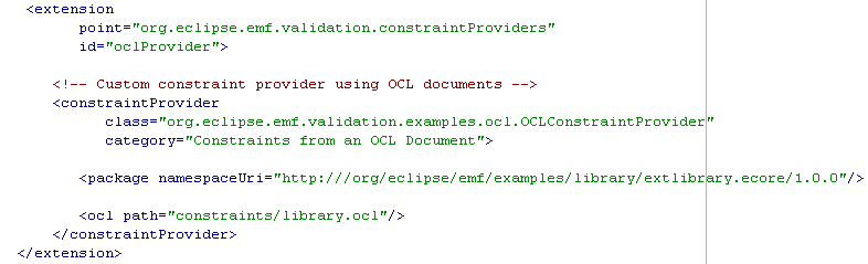 Constraint Provider Example