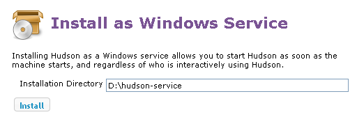 Hudson-ci/Installing Hudson Windows Service - Eclipsepedia