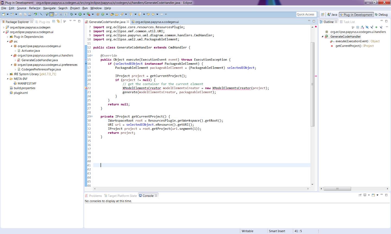 Papyrus/Codegen/Adding a New Code Generator - Eclipsepedia
