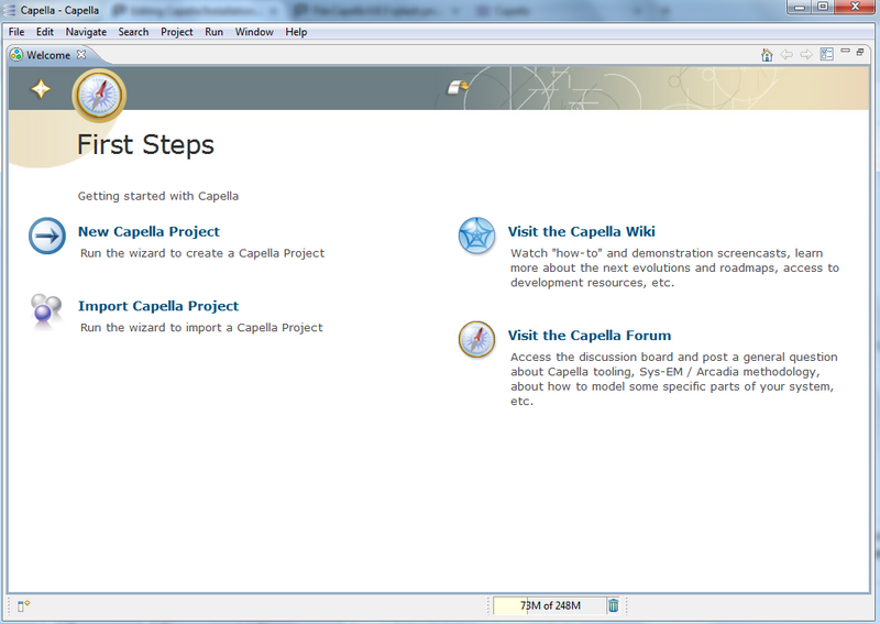 Capella 0.8.3 welcome.png